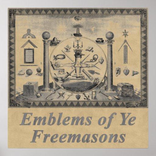 Emblèmes maçonniques posters