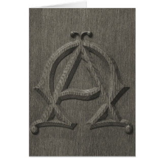 Embossed Alpha Omega Card