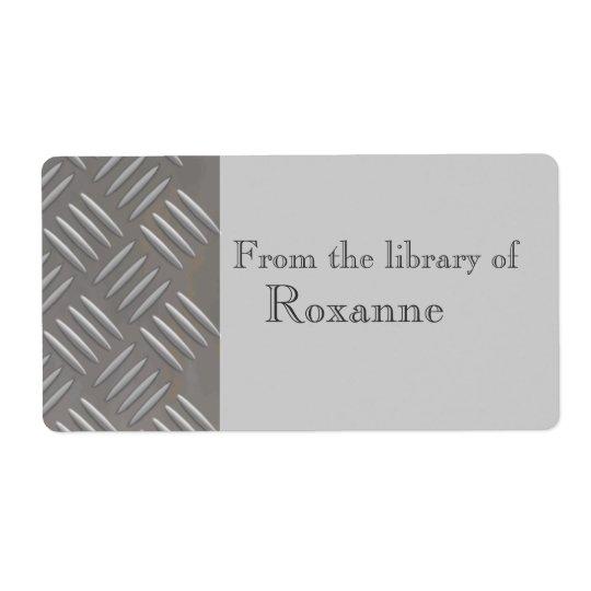 Embossed Aluminum Metal Look Custom Book Label