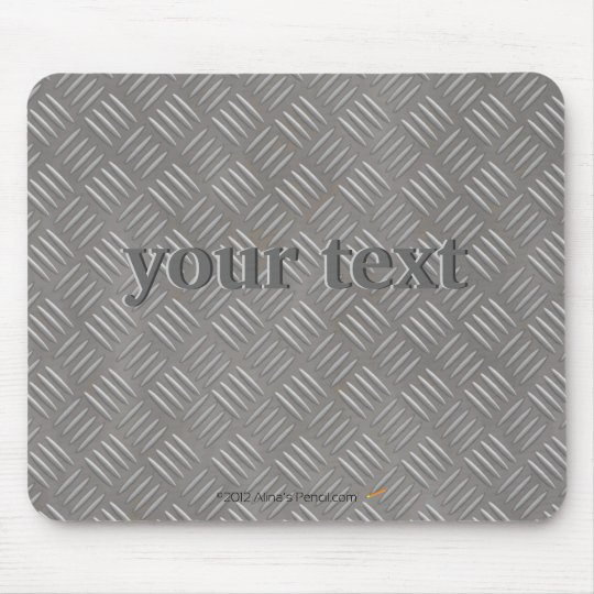 Embossed Aluminum Metal Look Custom Mouse Pad