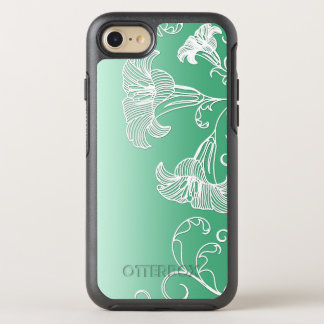 Embossed Day Lilies on Lime Sherbet Background OtterBox Symmetry iPhone 8/7 Case