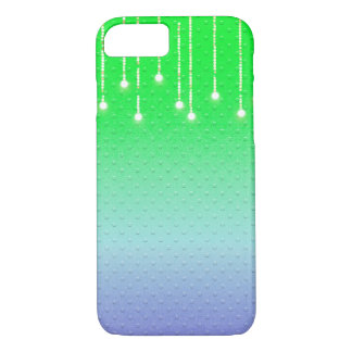 embossed dots with glowing light string Case-Mate iPhone case