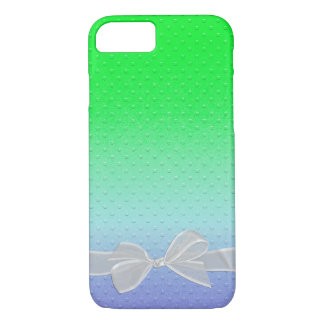 embossed dots with sheer white bow Case-Mate iPhone case