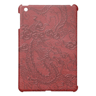 *Embossed Dragon's Pad on Multi-Color Leather Case For The iPad Mini