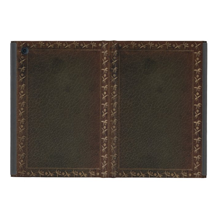 Ipad Mini Classic Book Cover ~ Embossed leather book cover covers for ipad mini zazzle