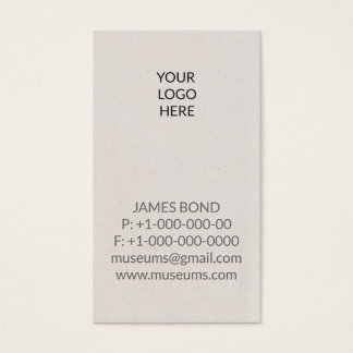 Embossed Logo Business Card