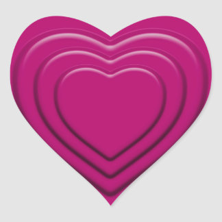 Embossed Pink Heart Heart Sticker