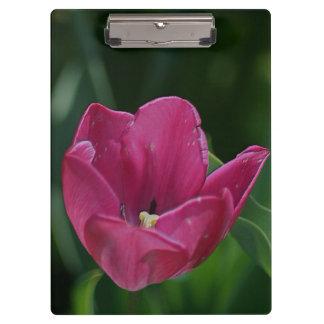 Embossed Pink Tulip Clipboard
