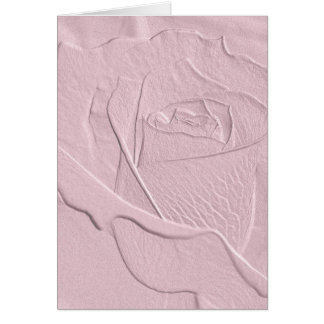 Embossed Soft Pink Rose Card