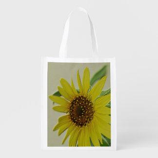 Embossed Sunflower Reusable Grocery Bag