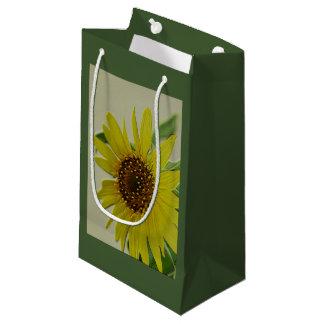 Embossed Sunflower Small Gift Bag