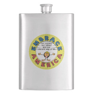 EMBRACE AMERICA President Trump Caricature Flasks