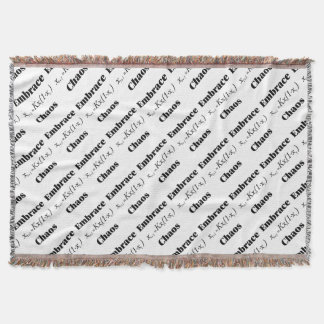 Embrace Chaos Throw Blanket