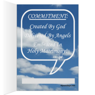 Embrace Commitment In Holy Matrimony Card