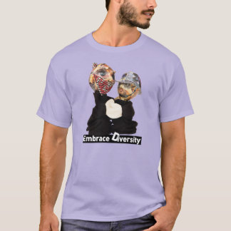 Embrace Diversity Robber and Policeman T-Shirt