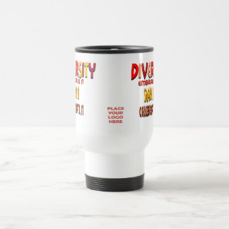 Embrace Diversity White Travel Mug