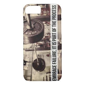 EMBRACE FAILURE. Bodybuilding Workout Motivational iPhone 8/7 Case