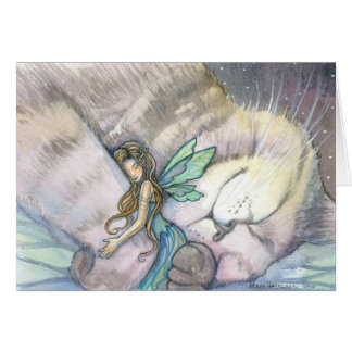 Embrace Fairy and Cat Card
