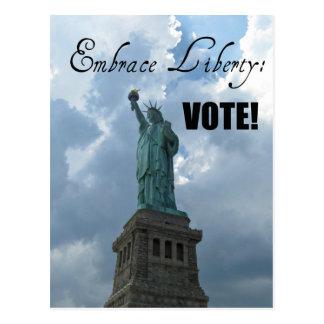 Embrace Liberty...VOTE! Postcard