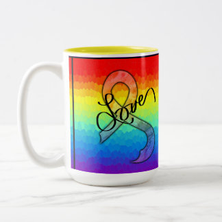 Embrace Love Two-Tone Coffee Mug