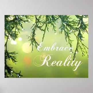 Embrace Reality Cedar Twigs Sparkling Water Drops Print