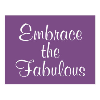 Embrace the Fabulous Postcard