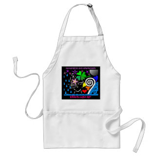 """""""Embrace the Unknown: Cosmic Black Cat"""" Apron"""