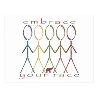"""embrace your race"" postcard"