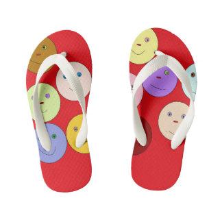 Embrace your unique self kid's flip flops