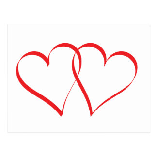 Embracing Hearts Postcard