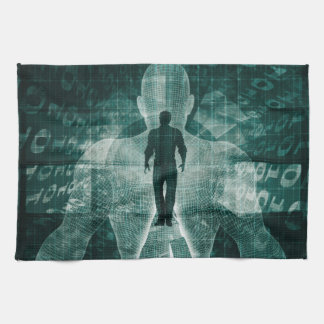 Embracing New Technology of the Future as Art Kitchen Towel
