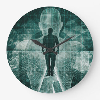 Embracing New Technology of the Future as Art Large Clock
