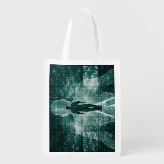 Embracing New Technology of the Future as Art Reusable Grocery Bag