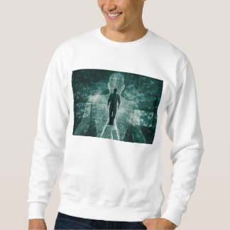 Embracing New Technology of the Future as Art Sweatshirt