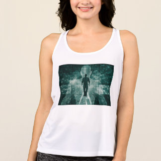 Embracing New Technology of the Future as Art Tank Top