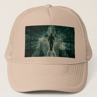 Embracing New Technology of the Future as Art Trucker Hat