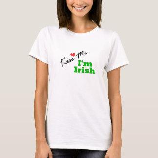 Embrassez-moi, je suis irlandais t-shirt