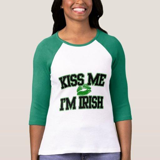 Embrassez-moi que je suis irlandais, chemise de Jo T-shirts