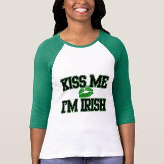 Embrassez-moi que je suis irlandais, chemise de t-shirt