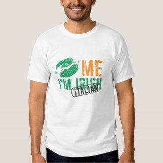 Embrassez-moi que je suis irlandais/Italien Tee-shirt
