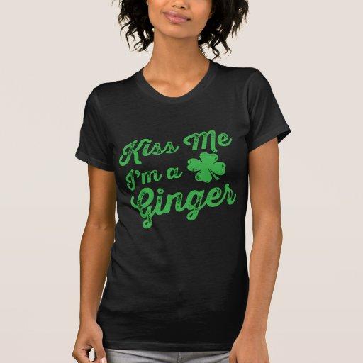 Embrassez-moi que je suis un gingembre ! t-shirts