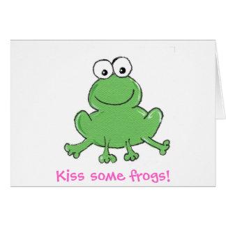 Embrassez quelques grenouilles ! carte pour notes