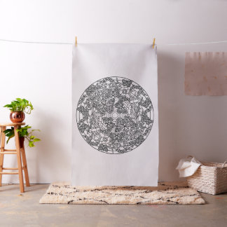 Embroider Your Own Butterflies Mandala Fabric