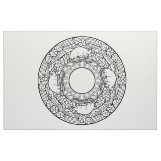 Embroider Your Own Mandala Fabric Rats