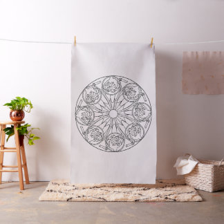 Embroider Your Own Milkshake Mandala Fabric