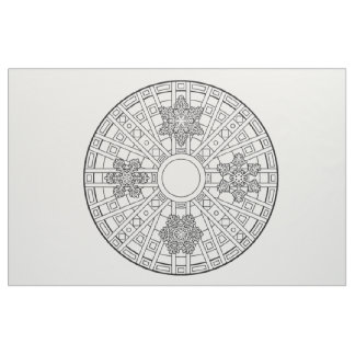 Embroider Your Own Snowflakes Mandala Fabric
