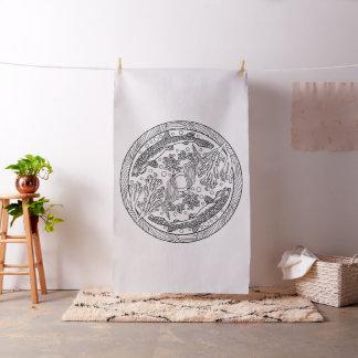 Embroider Your Own Wobbegong Sharks Mandala Fabric