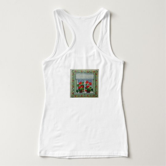 Embroidered art point d cross beach window c tank top
