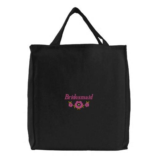 Embroidered Bridesmaid Tote Bag
