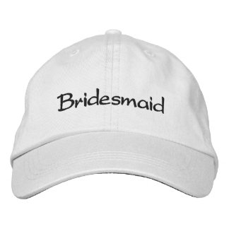 EMBROIDERED BRIDESMAID WEDDING CAP EMBROIDERED HATS